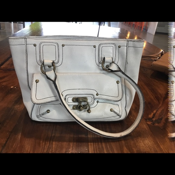 Nordstrom Handbags - Nordstrom White Leather Purse
